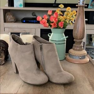 Missimo Brand Faux Suede Heel Booties